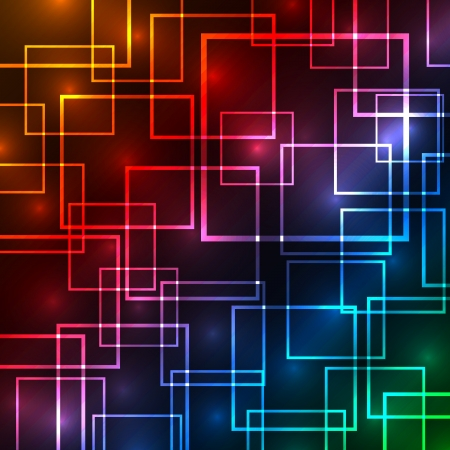 Colorful squares abstract background  Vector