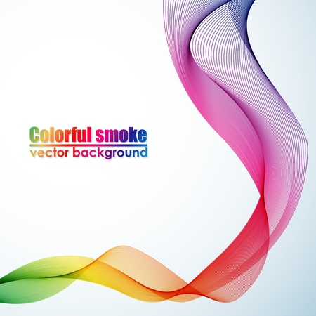 Abstract colorful smoke background Stock Vector - 14357947