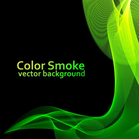 Abstract green smoke background Stock Vector - 14357983