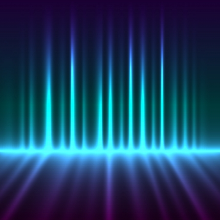 Abstract aurora borealis lights vector background Stock Vector - 14432977
