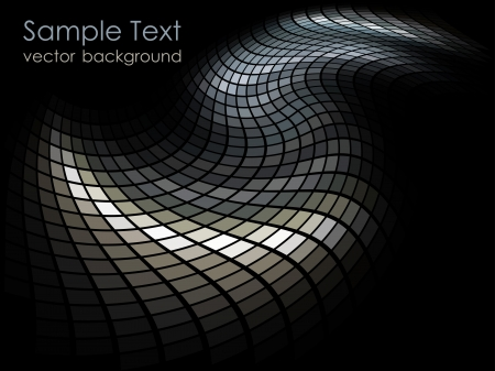 Mosaic dark beige and gray colored vector background  Vector