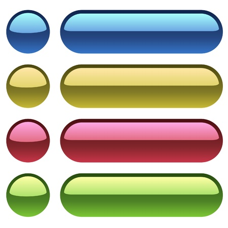 Color plastic buttons for web design  Stock Vector - 14432964
