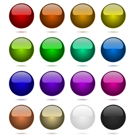Color balls set isolated on white Stock Vector - 14432974
