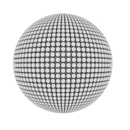 embossment: Abstract pimple covered sphere isolated on white  Stock Photo