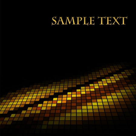 mosaic floor: Abstract golden mosaic vector background  Stock Photo