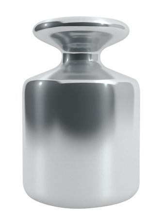 etalonnage: Poids de calibrage en m�tal isol� sur blanc