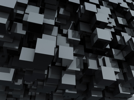 Black glossy cubes abstract background  Banque d'images