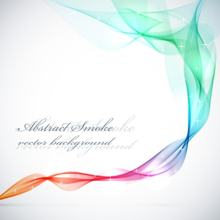 trail: Abstract colorful smoke vector background