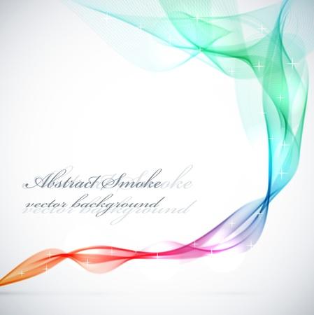 abstract smoke: Resumen de humo de colores de fondo vector