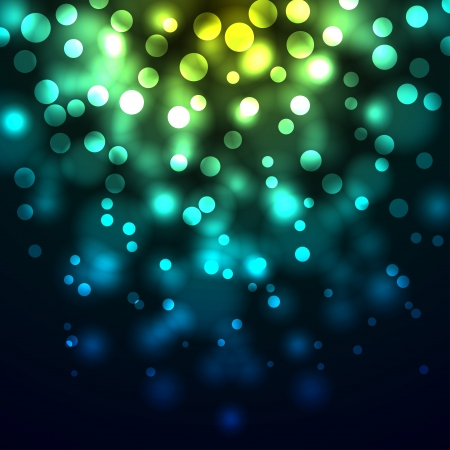 Abstract bokeh yellow and blue lights  background