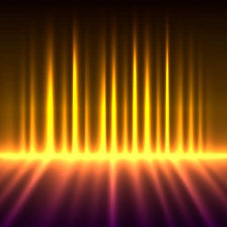 cool background: Abstract fire colored aurora borealis lights background