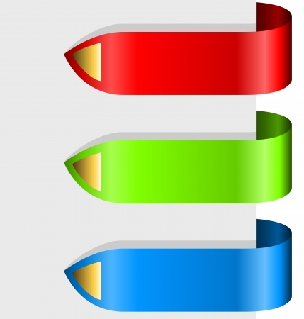 Blank color ribbon arrows design element.