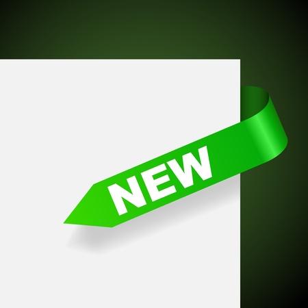 New green paper label vector illustration. Stock Vector - 14491624