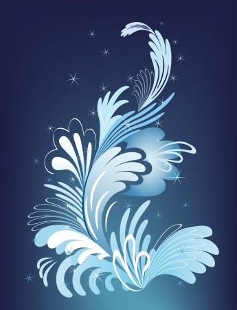Abstract winter design element with sparks. Vector