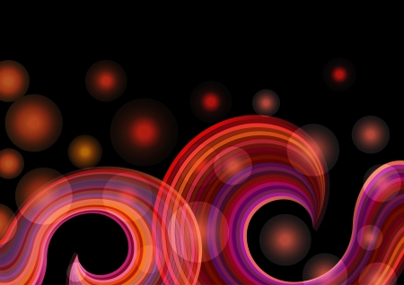 Abstract pink and red rainbow waves background  Vector