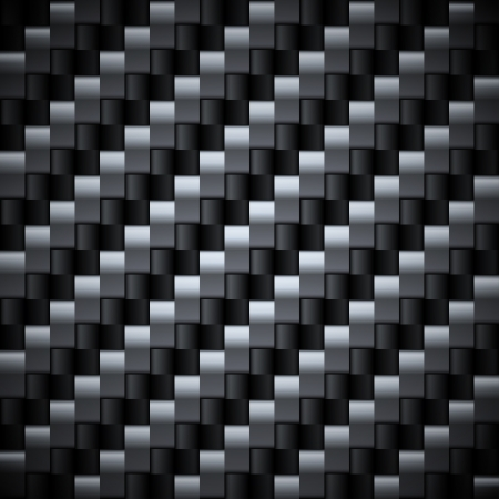 Seamless silver and black carbon texture  Vector