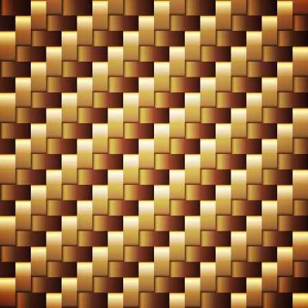 Seamless golden webbed square texture. Vector