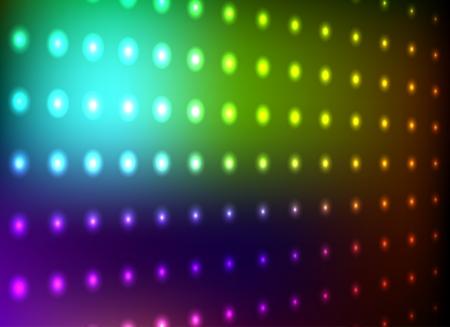 カラフルなクラブ光の壁の背景