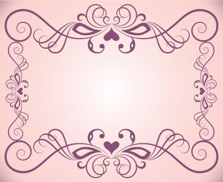 コピー スペースとピンク色の華やかな花のフレームの背景