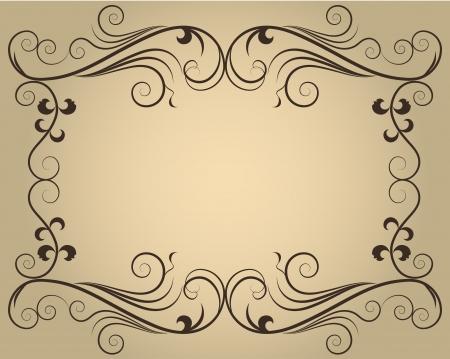 コピー スペースを持つヴィンテージの華やかなカリグラフィ フレーム  イラスト・ベクター素材