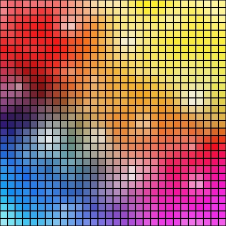 pixelated: Colorful mosaic background