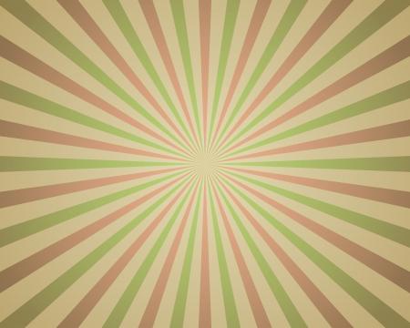 bursts: Vintage rosso e verde sfondo raggi Vettoriali