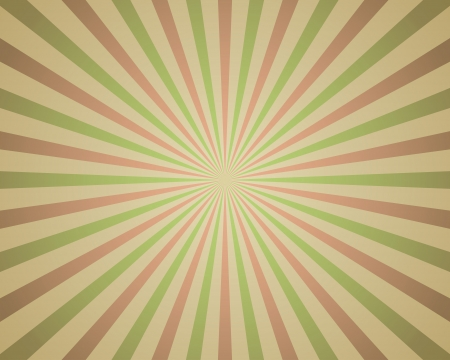 Vintage red and green rays background