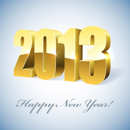 New 2013 year golden figures card   Vector