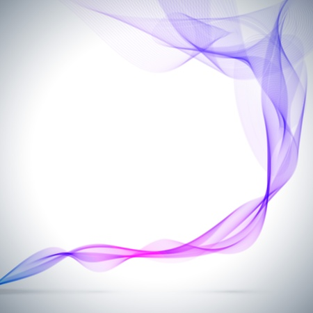 Abstract blue colored smoke vector background  Vector