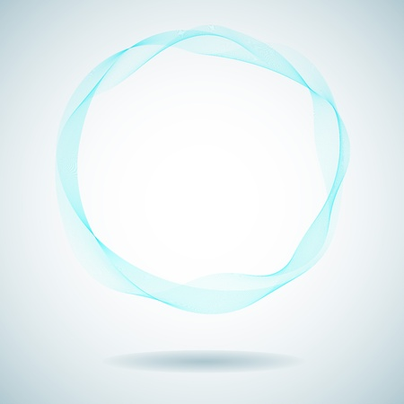 wallpaper rings: Abstract cyan smoke ring design element  Illustration