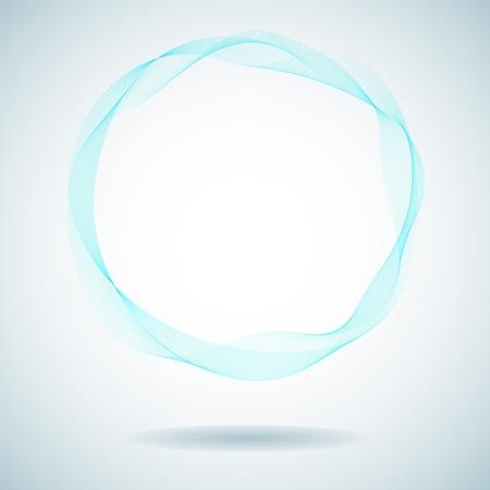 Abstract cyan smoke ring design element  Vettoriali