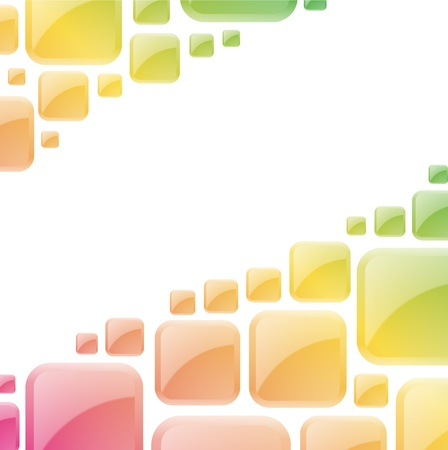 block: Colorful glossy squares abstract vector background