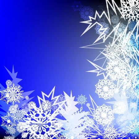 Winter corner ornament vector background. Vector