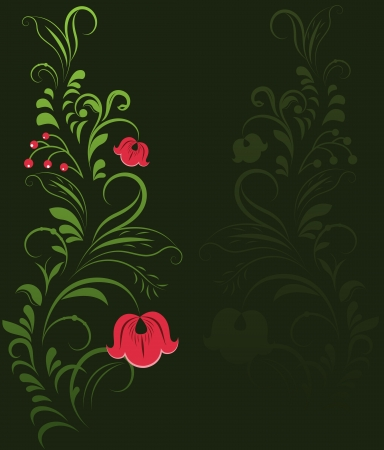 Traditional Russian ornament background with copy space. Vector
