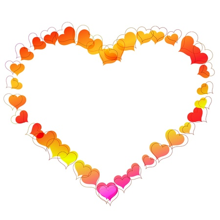 bordure de page: Cadre en forme de coeur en forme de coeur de petits
