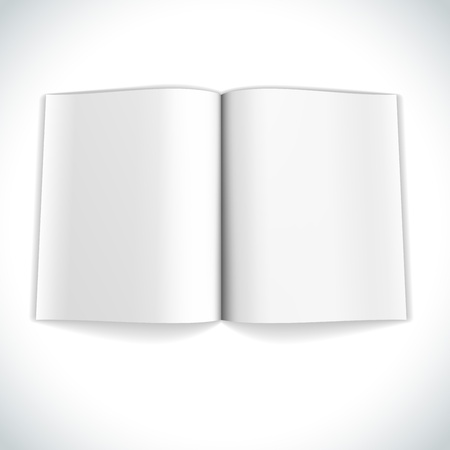 open magazine: Blank magazine double page spread vector illustration