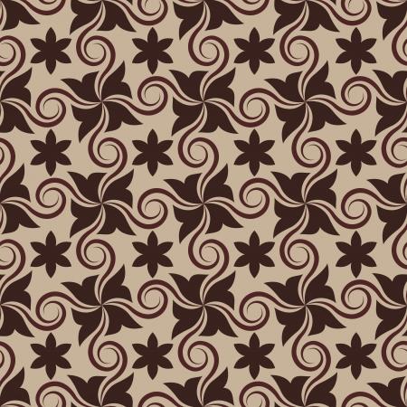 カールと抽象的な茶色のシームレスなパターン