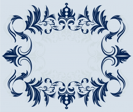 Vintage horizontal frame ornament vector illustration  Vector