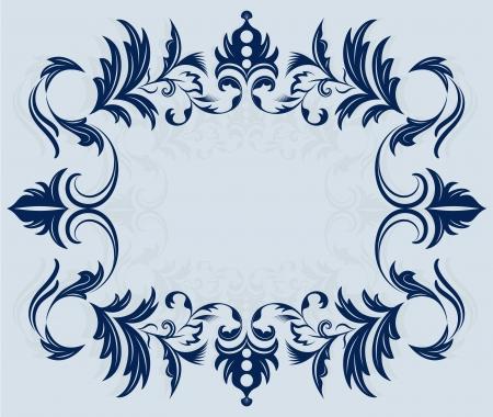 bordering: Vintage ornamento horizontal marco ilustraci�n vectorial