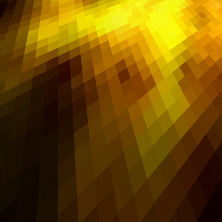 colourful fire: Abstract gold colored mosaic background