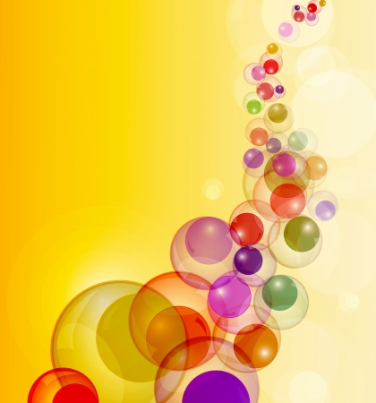 Abstract colorful bubbles stream vector background with copy space