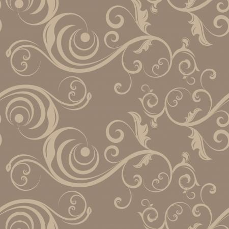 beige backgrounds: Light beige seamless floral pattern