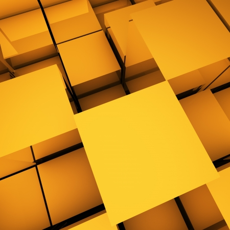 abstract 3d blocks: Abstract geometric background with copy space.