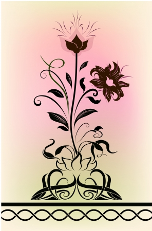 romantically: Abstract blossoming flower shape  illustration.  Illustration