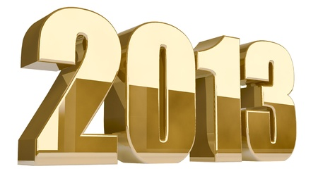 year 3d: New 2013 year 3D golden figures