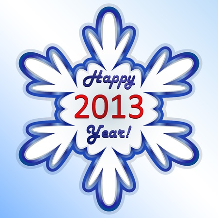 New 2013 year snowflake card   Vector