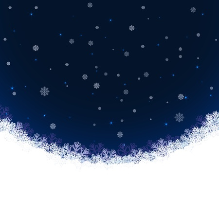 Abstract winter background with snowflakes and copy space