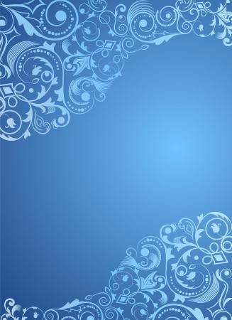 コピー スペース ブルーの垂直花の背景。