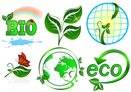 Eco  items on white background  Vector