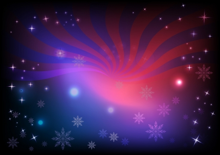 Pink and blue snowflake horizontal background Stock Vector - 15900663
